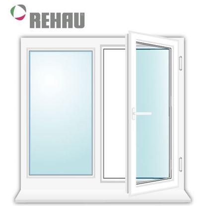 Изображение Двухстворчатое окно REHAU