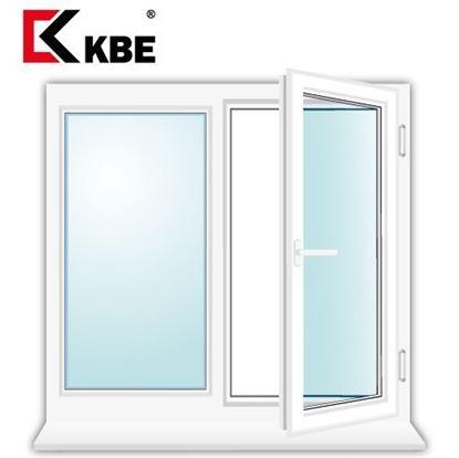Изображение Двухстворчатое окно KBE EXPERT
