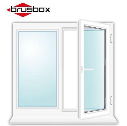 Изображение Двухстворчатое окно Brusbox
