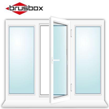 Изображение Окно трехстворчатое Brusbox