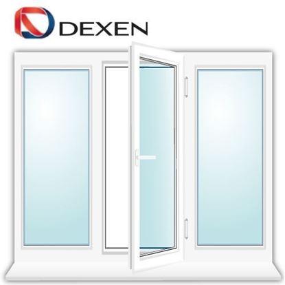Изображение Трехстворчатое окно DEXEN