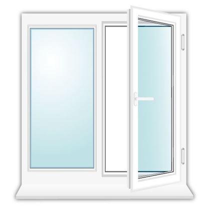 Изображение Установка двухстворчатого окна