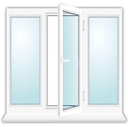 Изображение Установка трехстворчатого окна