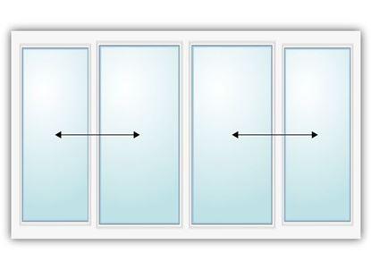 Изображение Прямая алюминиевая раздвижная балконная рама